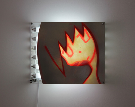 やくしまるえつこ『ミオデソプシア』2012 TALION GALLERYでの展示風景 ©やくしまるえつこ