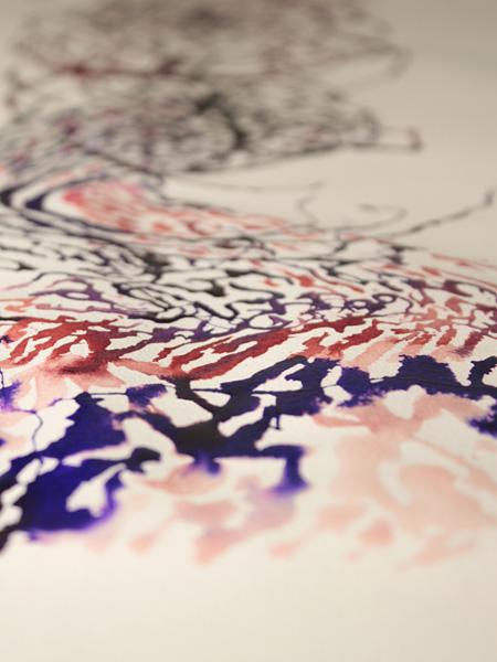 『色の波の絵巻』2010年、ビデオ ©Takashi Ishida