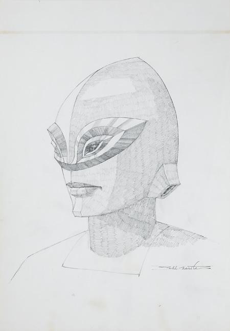 『アストロ』1984年 鉛筆・紙 個人蔵