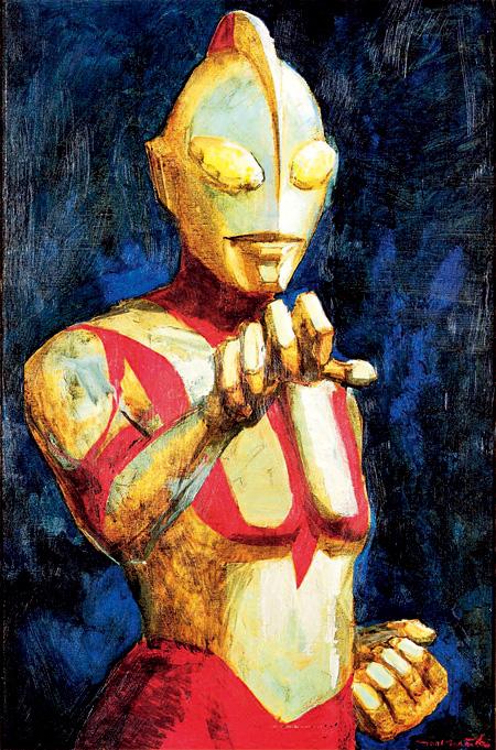 『真実と正義と美の化身』1983年 油彩・キャンバス 個人蔵