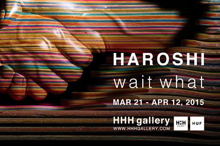 HAROSHI『wait what』メインビジュアル