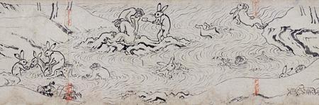国宝『鳥獣人物戯画 甲巻(部分)』平安時代・12世紀 京都・高山寺 前期展示
