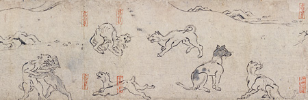 国宝『鳥獣人物戯画 乙巻(部分)』平安時代・12世紀 京都・高山寺 前期展示
