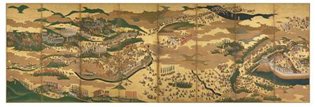 重要文化財『関ヶ原合戦図屏風』右隻 大阪歴史博物館蔵