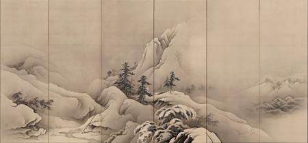 橋本雅邦『雪景山水図』1880年代半ば、ボストン美術館 William Sturgis Bigelow Collection, 11.8724 Photograph ©2014 Museum of Fine Arts, Boston.
