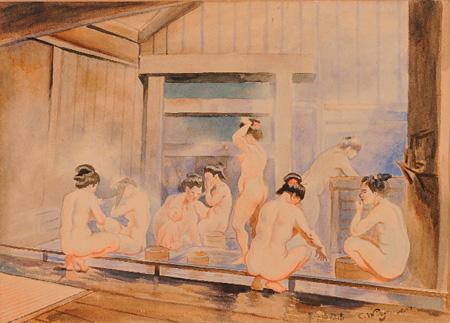 高橋由一『花魁(美人)』1872年(明治5)、東京藝術大学、重要文化財(東京展のみ展示)