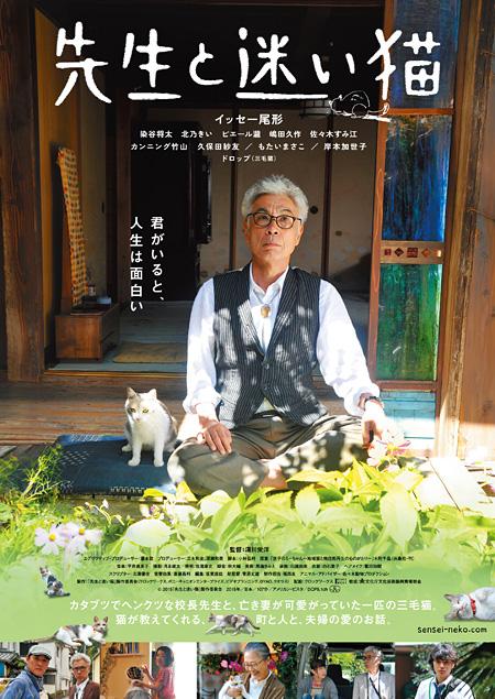 『先生と迷い猫』ポスタービジュアル ©2015「先生と迷い猫」製作委員会