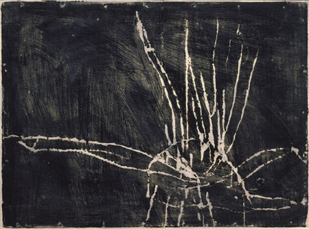 『Untitled(無題)』1953年 48×64cm  モノタイプ、紙 ©Cy Twombly Foundation / Courtesy Cy Twombly Foundation