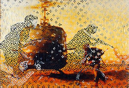 ディン・Q・レ『消えない記憶 #14』2000-01年 Cプリント、リネンテープ 個人蔵