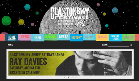 『Glastonbury Festival of Contemporary Performing Arts』オフィシャルサイト