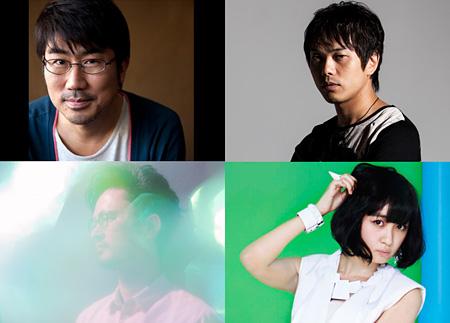 VIVA LA J-ROCK ANTHEMS!バンドメンバー 左上から時計回りに亀田誠治、ピエール中野、津野米咲、長岡亮介