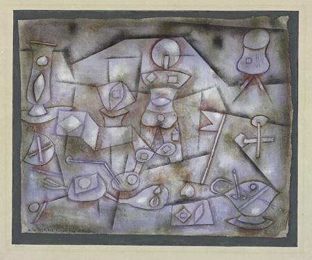 パウル・クレー『小道具の静物』1924年 パウル・クレー・センター(ベルン)蔵 ©Zentrum Paul Klee c/o DNPartcom