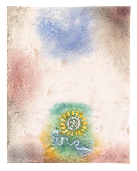 パウル・クレー『無題(花と蛇)』1940年頃 パウル・クレー・センター(ベルン)蔵 ©Zentrum Paul Klee c/o DNPartcom(裏表に制作)