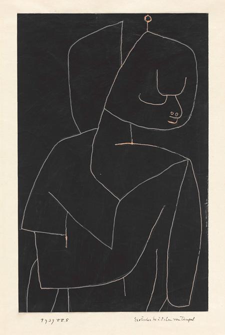 パウル・クレー『異国の寺院の少女』1939年 パウル・クレー・センター(ベルン)蔵 ©Zentrum Paul Klee c/o DNPartcom