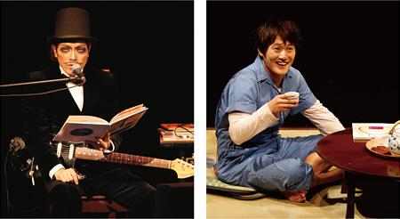 ROLLY(写真左、撮影:青木司) 小林顕作(写真右、撮影:石川純)