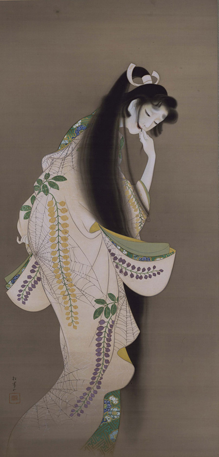 上村松園『焔』大正7年(1918)絹本着色 東京国立博物館 Image:TNM Image Archives 9月1日~9月13日展示