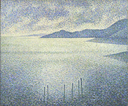 Théo van Rysselberghe, Coastal Scene, about 1892 ©The National Gallery, London
