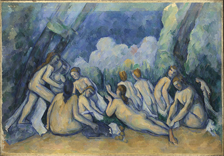Paul Cézanne, Bathers (Les Grandes Baigneuses), about 1894-1905 ©The National Gallery, London