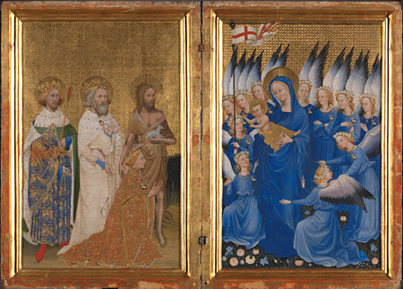 English or French (?), The Wilton Diptych, about 1395-9 ©The National Gallery, London