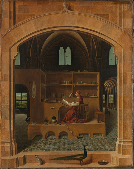 Antonello da Messina, Saint Jerome in his Study, about 1475 ©The National Gallery, London