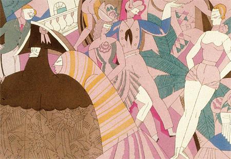 エリック・サティ(作曲)、シャルル・マルタン(挿絵)『スポーツと気晴らし』より『カーニヴァル』 1914-23年 紙、ポショワール フランス現代出版史資料館 Fonds Erik Satie - Archives de France / Archives IMEC