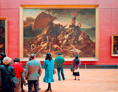 トーマス・シュトゥルート『ルーヴル美術館4、パリ 1989』1989年、タイプCプリント、138.0×177.0cm、京都国立近代美術館 ©Thomas Struth