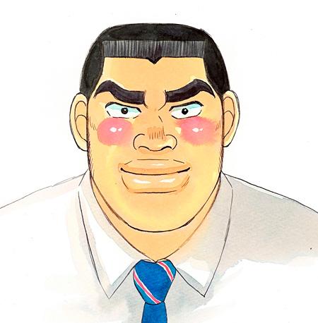 鈴木亮平が演じる剛田猛男 原作ビジュアル ©アルコ・河原和音/集英社
