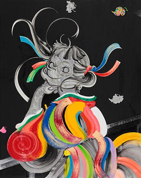 木原千春『ペコ16歳。』(油彩)2015年