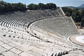 ギリシャの野外円形劇場・エピダウロス