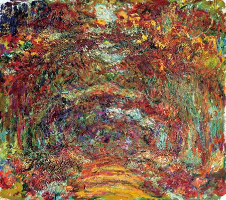 クロード・モネ『バラの小道、ジヴェルニー』1920-22年 油彩、カンヴァス 89x100cm  Musée Marmottan Monet, Paris ©Bridgeman-Giraudon