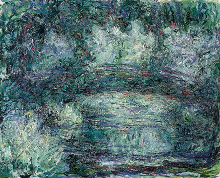 クロード・モネ『日本の橋』1918-19年 油彩、カンヴァス 74x92cm Musée Marmottan Monet, Paris ©Bridgeman-Giraudon