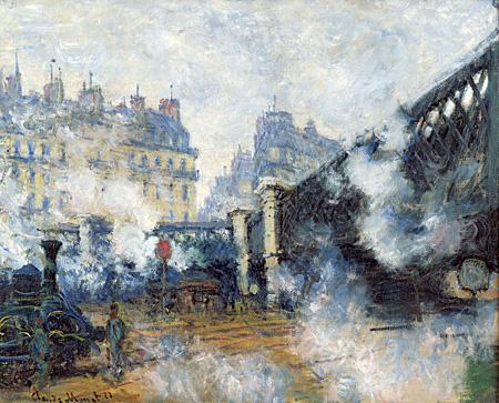 クロード・モネ『ヨーロッパ橋、サン=ラザール駅』1877年 油彩、カンヴァス 65x81cm Musée Marmottan Monet, Paris ©Bridgeman-Giraudon