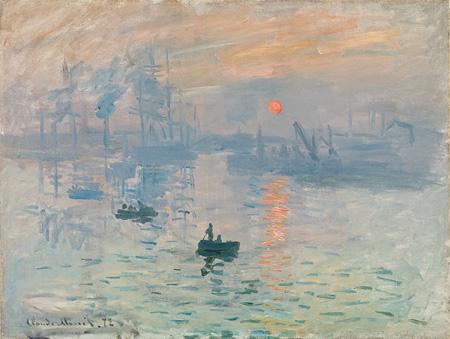 クロード・モネ『印象、日の出』1872年 油彩、カンヴァス 50x65cm Musée Marmottan Monet, Paris ©Christian Baraja