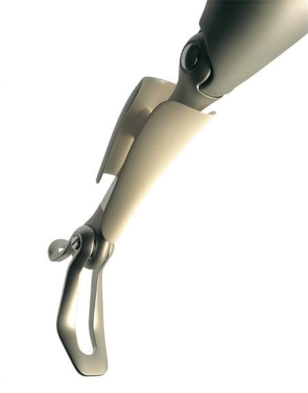 女性用大腿義足 写真:清水行雄