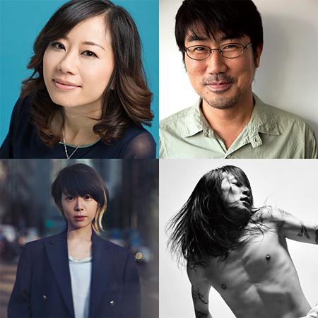 左上から時計回りにレイチェル・チャン、亀田誠治、ATSUSHI(Dragon Ash)、Salyu