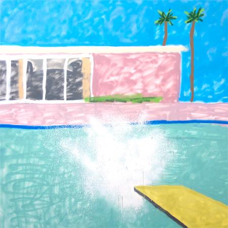 『A Bigger Splash 2』 2015 / acrylic, aerosol on canvas, 167x167x5cm