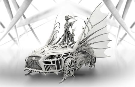 『LEXUS DRESS』2014年 SOMARTA×LEXUS  ©LEXUS/WWDジャパン/SOMA DESIGN 3D Modeling: Sun Junjie 3D Engineering:Junichiro Horikawa 所蔵:LEXUS INTERNATIONAL