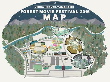 『夜空と交差する森の映画祭 2015』会場マップ