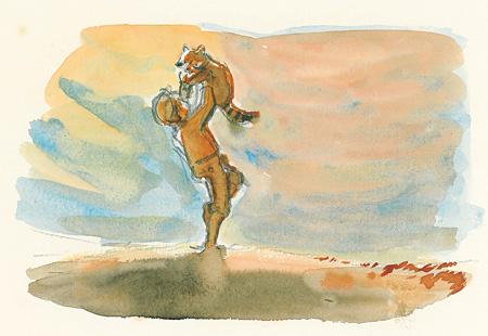 『あらいぐまラスカル』イメージボード 遠藤政治 ©NIPPON ANIMATION CO., LTD.