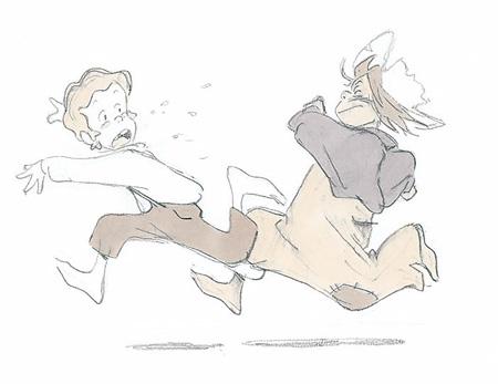 『トム・ソーヤーの冒険』設定画 関修一 ©NIPPON ANIMATION CO., LTD.