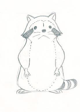 『あらいぐまラスカル』設定画 遠藤政治 ©NIPPON ANIMATION CO., LTD.