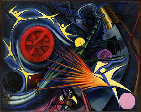 岡本太郎『重工業』第34回展(1949年 川崎市岡本太郎美術館蔵)