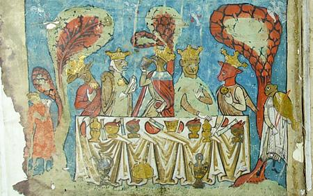高山明『義人たちのメシア的な宴』ヘブライ語聖書(13世紀) 所蔵:ミラノ、アンブロジアーナ図書館