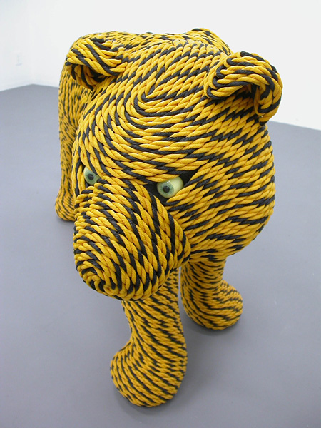 岡本光博『虎縄文』2009年 作家蔵