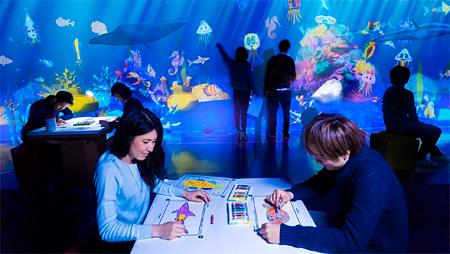 チームラボ『お絵かき水族館』2013