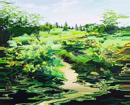 阿部未奈子『Scene no.42』2014 130.3×162.0 油彩 キャンバス
