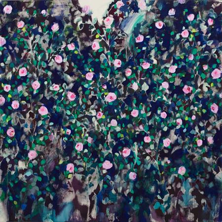 佐藤翠『English Rose garden』2014 194.0×194.0 アクリル 綿布
