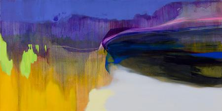 流麻二果『金の斧 Mercury and the Woodman』2013 97.0×162.0 油彩 キャンバス