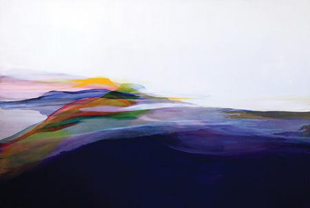 流麻二果『可視性 Visibility』2012 130.3×194.0 油彩 キャンバス