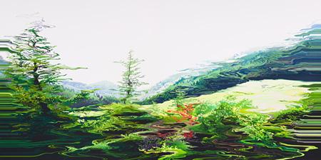 阿部未奈子『Scene no.41』2013 194.0×388.0 油彩 キャンバス